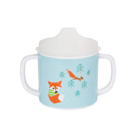 Trinklernbecher 2-handle cup with lid, Little Tree Fox