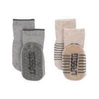 Kinder Antirutsch-Socken (2er-Pack) - Anti-Slip Socks, Grey - Beige