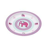 Kinderteller Plate Melamine, Wildlife Elephant
