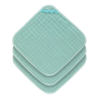 Waschlappen aus Mull (3 Stk) - Muslin Washcloth, Mint