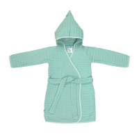 Kinder Bademantel aus Mull - Muslin Bathrobe, Mint