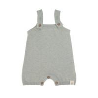 Baby Jumpsuit - Knitted Jumpsuit GOTS, Garden Explorer Aqua Grey