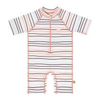 Kinder Schwimmanzug - Short Sleeve Sunsuit, Little Sailor Peach