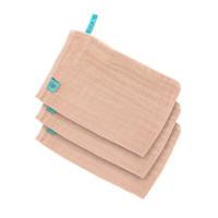 Waschhandschuhe aus Mull (3 Stk) - Muslin Wash Glove, Light Pink