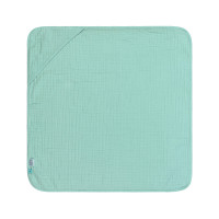 Kinder Kapuzenhandtuch aus Mull - Muslin Hooded Towel, Mint