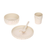 Kindergeschirr Set mit Bambus - Dish Set, Little Water Swan