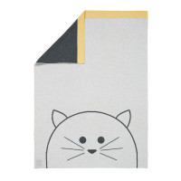 Babydecke - Knitted Blanket GOTS Little Chums Cat