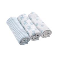 Mulltücher - Swaddle & Burp Blanket, Lela Light Blue