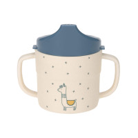 Trinklernbecher mit Bambus - Sippy Cup, Glama Lama blue