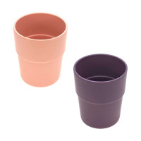 Kinderbecher mit Bambus im Set (2 Stk) - Mug, Peach - Plum