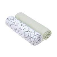 Mulltücher - Muslin Swaddle & Burp Blanket XL, Little Spookies Olive