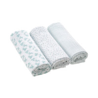 Mulltücher Heavenly Soft Swaddle & Burp Blanket L, Lela Light Mint
