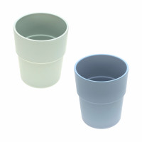 Kinderbecher mit Bambus im Set (2 Stk) - Mug, Mint - Blueberry