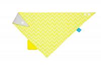 Dreieckstuch Baby - Bandana mit Beißhilfe, Zigzag yellow