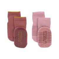 Kinder Antirutsch-Socken (2er-Pack) - Anti-Slip Socks, Rosewood