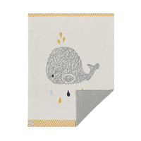 Babydecke - Knitted Blanket GOTS, Little Water Whale