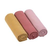 Mulltücher (3 Stk) - Swaddle & Burp Blanket L, Rose