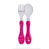 Kinderbesteck - Cutlery Stainless Steel, Mushroom Magenta