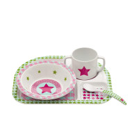 Kindergeschirr Set - Dish Set, Starlight magenta