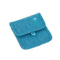 Brustbeutel -  Mini Neck Pouch, About Friends Mélange Blue