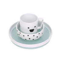 Kindergeschirr Set Porzellan - Dish Set, Little Chums Dog