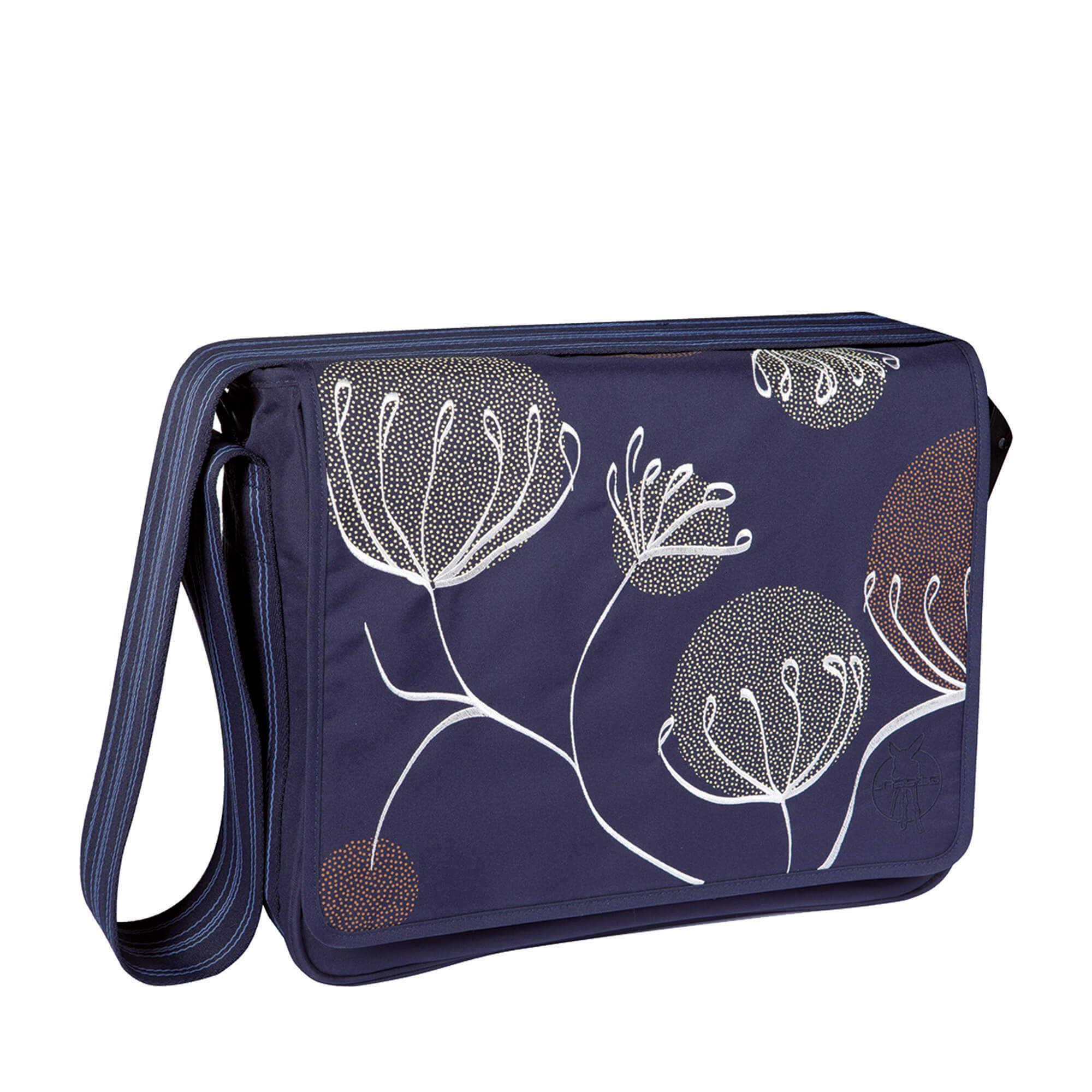 Rabat interchangeable Lassig Messenger Bag Casual Bloom ash bleu