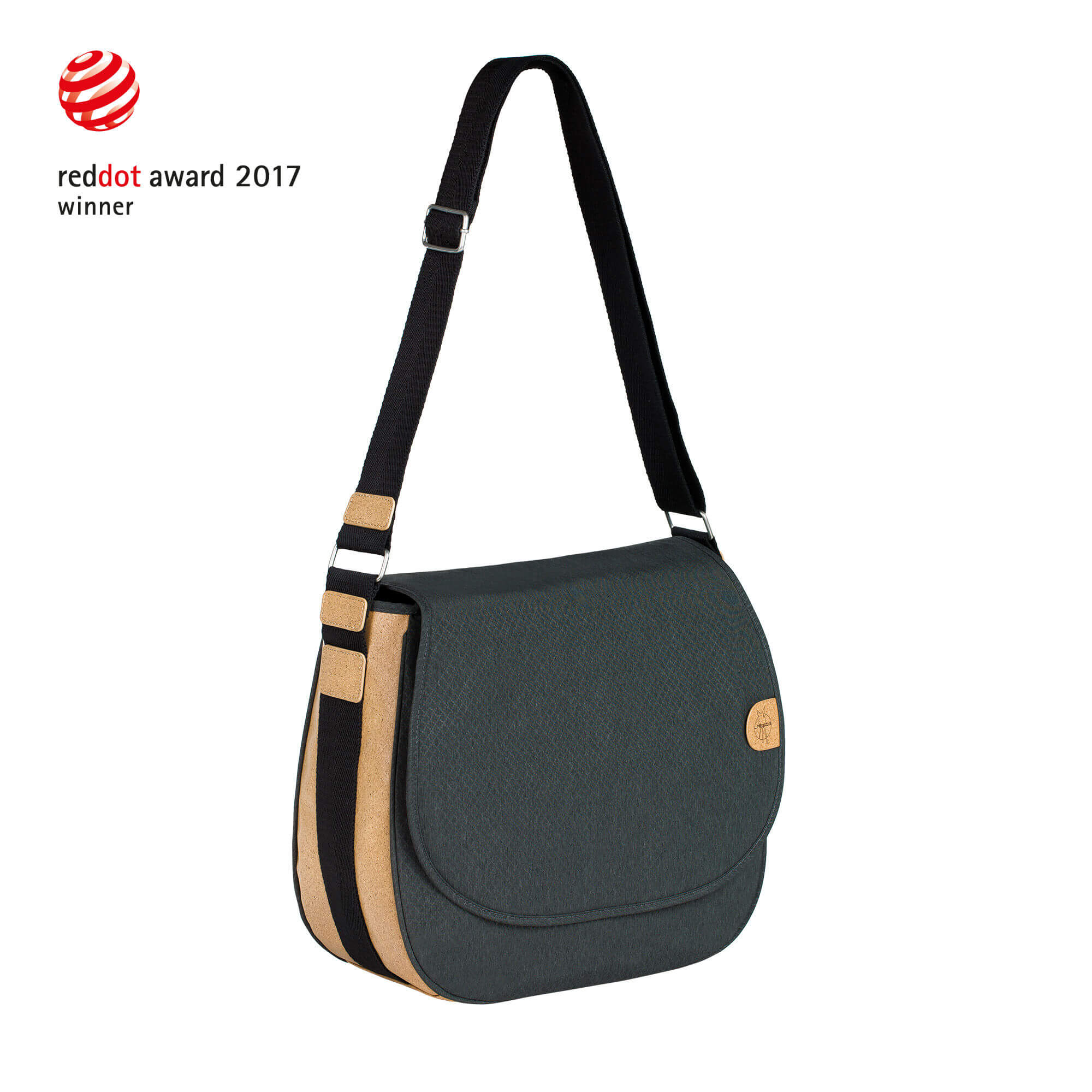 Lässig Green Label Sac shopping Black melange-orange OltBNLlaYv
