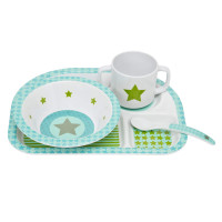 Kindergeschirr Set - Dish Set, Starlight olive
