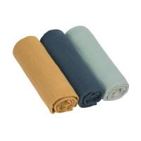 Mulltücher (3 Stk) - Swaddle & Burp Blanket L, Green