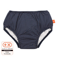 Schwimmwindel - Swim Diaper Girls, Polka Dots Navy