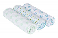 Swaddle & Burp Blanket large Sweet Dreams boys