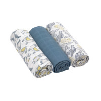 Mulltücher - Heavenly Soft Swaddle L, Glama Lama Blue